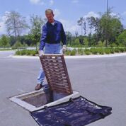 "9274-OS Polypropylene Geotextile Ultra-Grate Oil and Sediment Guard, 28"" Length x 28"" Width x 4"" Height"