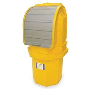 UltraTech 9641 Ultra-Hard Top 1-Drum P1 Plus Spill Pallet With Drain Yellow