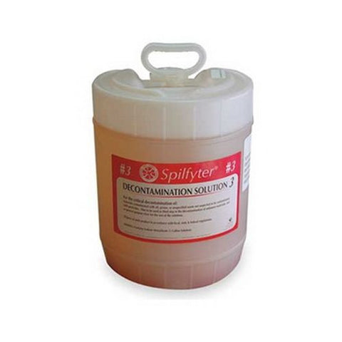 Spilfyter 680043 Decon Solution 3 For General Purpose Rinse, 5 Gal.