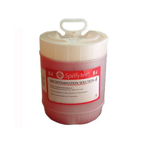 Spilfyter 680044 Decon Solution 4 For Base/Caustic Waste, 5 Gal.