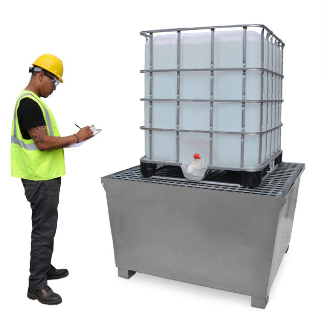 1184 Ultra IBC Steel Spill Containment Pallet, Grey
