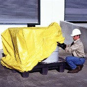 "1006 Pull Over Cover, 24"" Length x 12"" Width x 8"" Height, Yellow, For P4 Spill Pallet"
