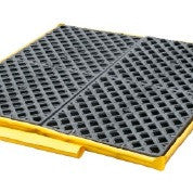 1362 Ultra Spill Deck Bladder System, Flexible Model, 4-Drum (P4), 6000 lbs Capacity, Yellow