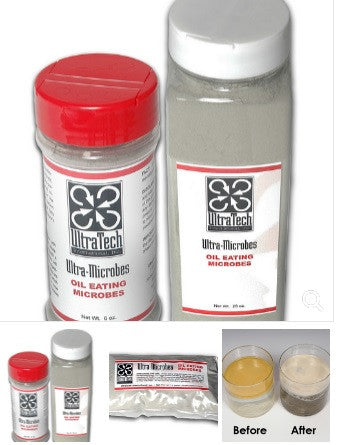 5238 Ultra-Microbes Shaker, Oil EatinG Microbes - 6 oz. Shaker