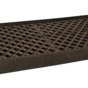 UltraTech 2350 Polyethylene Ultra-Containment Tray with Grating, 14 Gallon Containment Capacity, 5 Year Warranty, Black