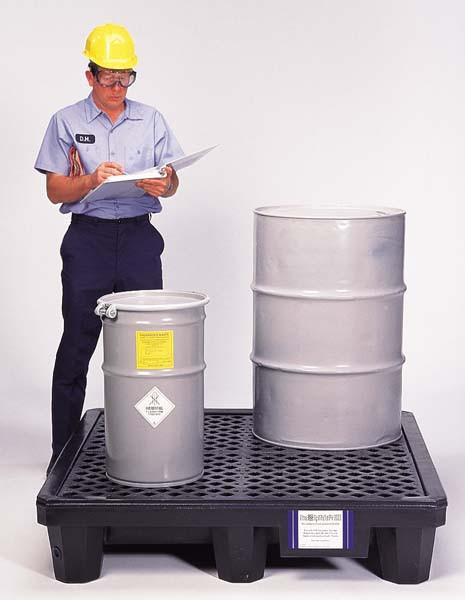 1112 Recycled Ultra Spill Pallet, P4 4-Drum