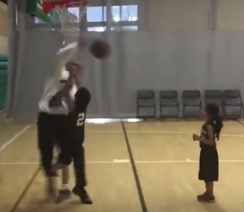 Kid Gets Blocked By His Own Coach