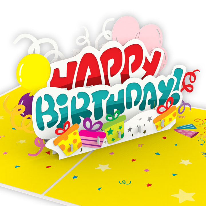 3D Pop Up Happy Birthday Card