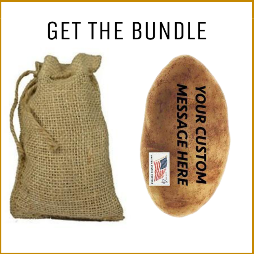 Burlap Sack & Anonymous Potato Bundle