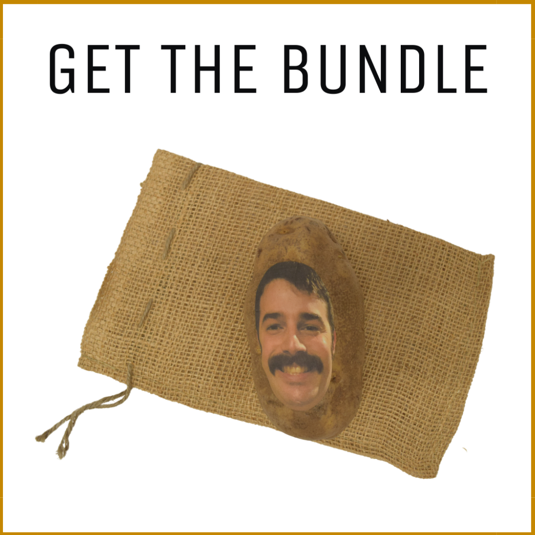 Burlap Sack & Potato Face Bundle