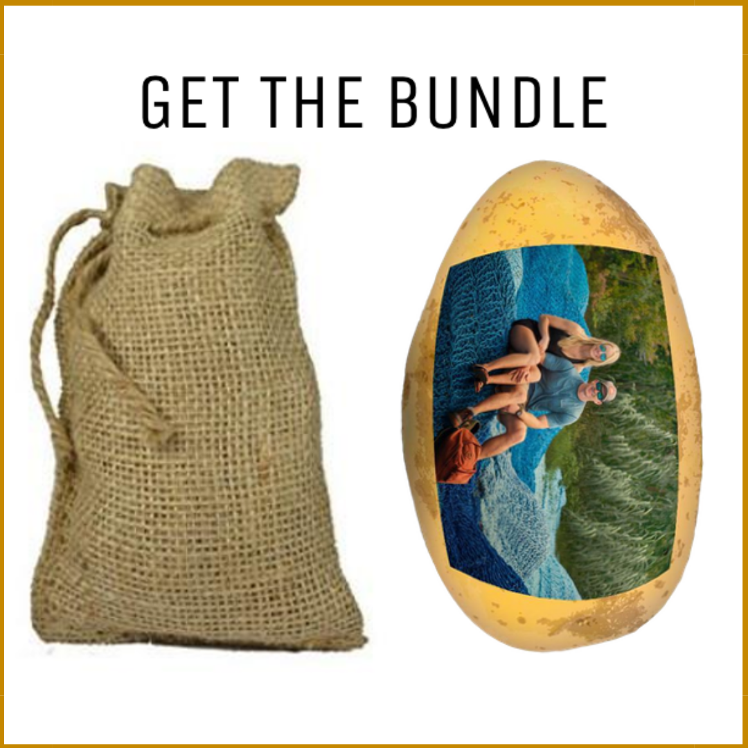 Burlap Sack & Full Photato Potato Bundle