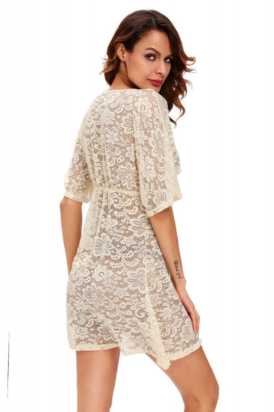 See-through Lace Cover Up Dress, Golden Sand (Limited stocks, be quick!)