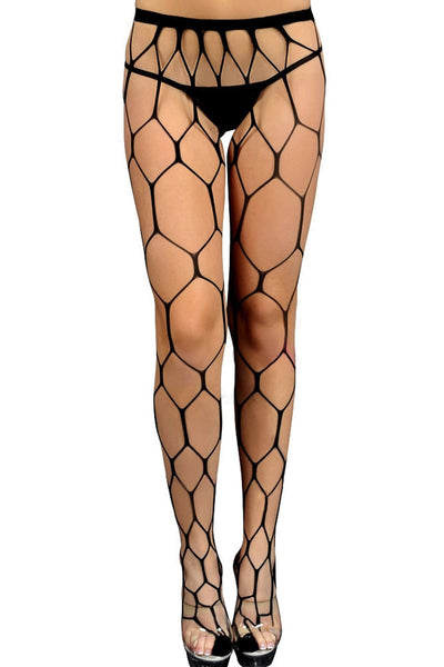 Sultry Hexagon Net Pantyhose