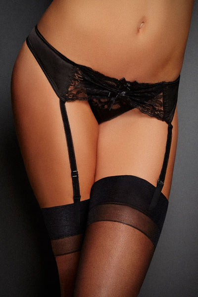 Lace Tanga Garter with Peek-a-Boo Thong