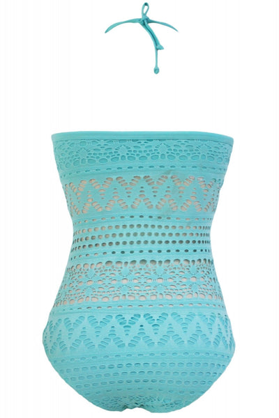 Light Blue lace halter Teddy one piece
