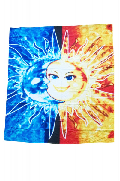 Sun & Moon Print Square Beach Towel