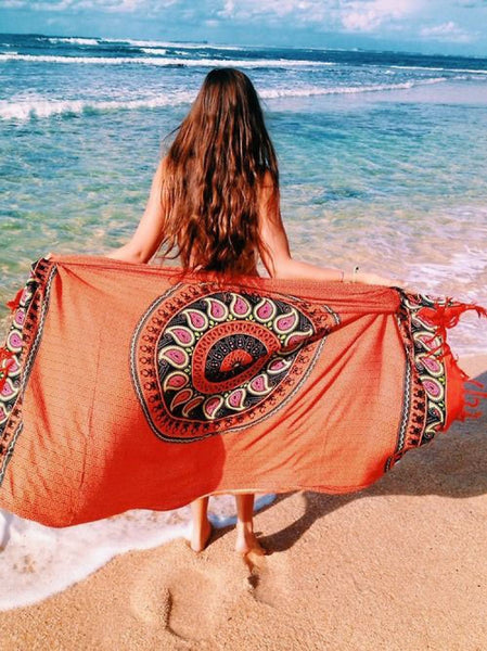 Gypsy Tassel Trim Beach Blanket (Limited stock, be quick)