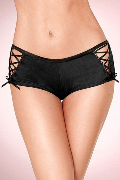 Black microfiber boyshort