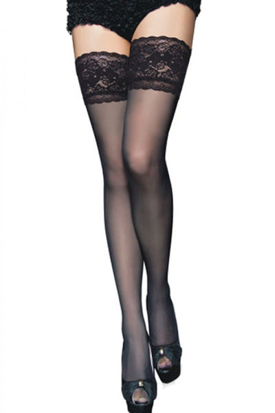 Stay up stockings with floral lace (Limited stock, be quick!).