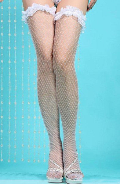 White lace fishnet stocking (Limited stocks, be quick!)