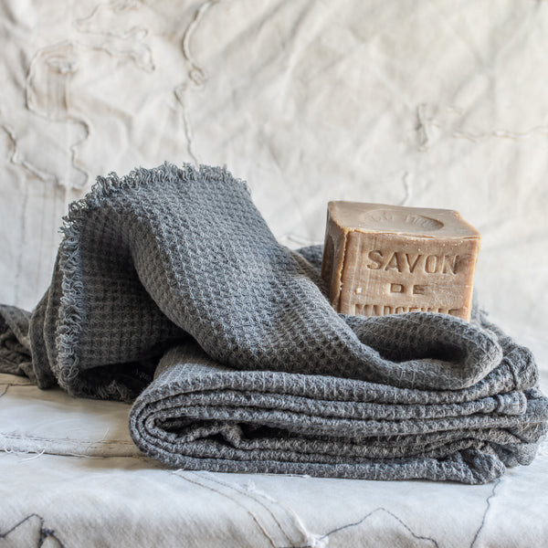 Swedish Waffle Linen Bath Towel - The Lost + Found Department
