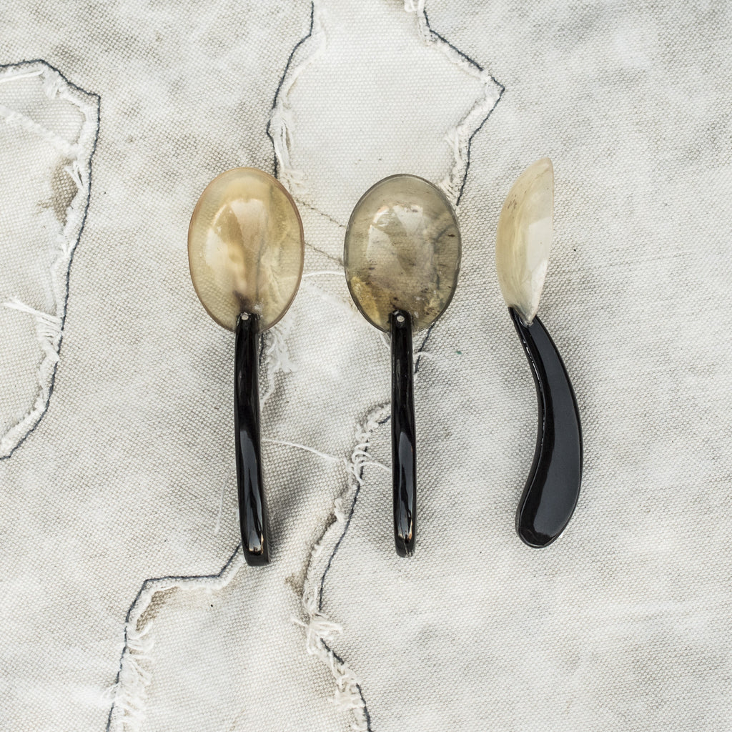 Small Horn Spoon with Curved Handle