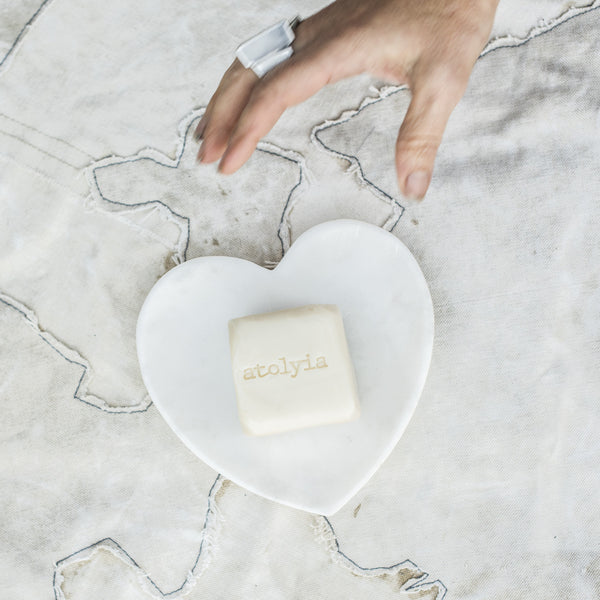 Atolyia Soap and Marble Heart Dish