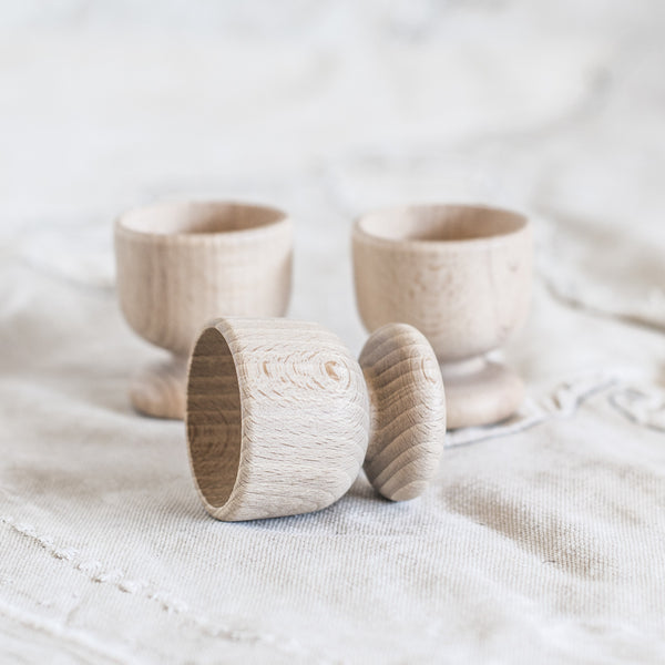 Egg Cup - Wooden $5.95 - The Lost + Found Department