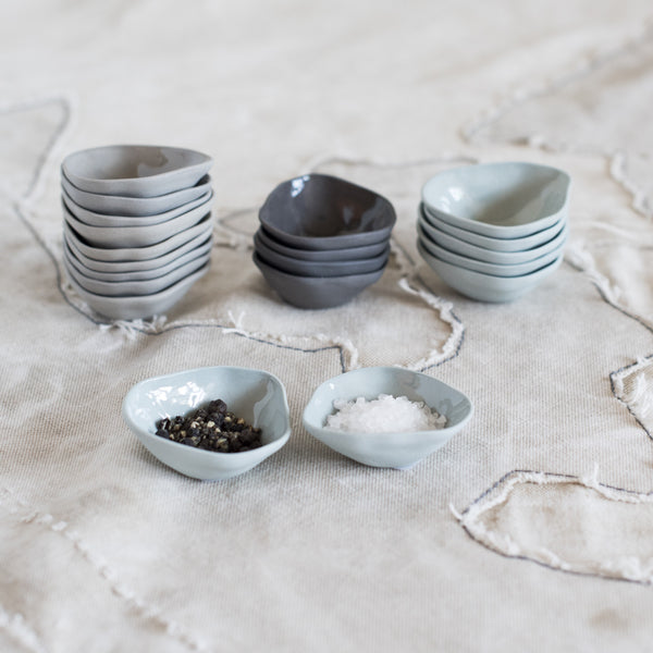 Porcelain Wabi Sabi Salt Dishes
