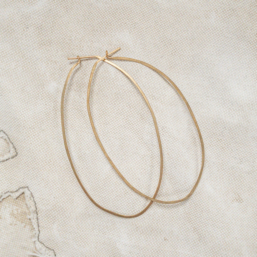 Earrings - Hand Beaten Hoops - The Lost + Found Department
