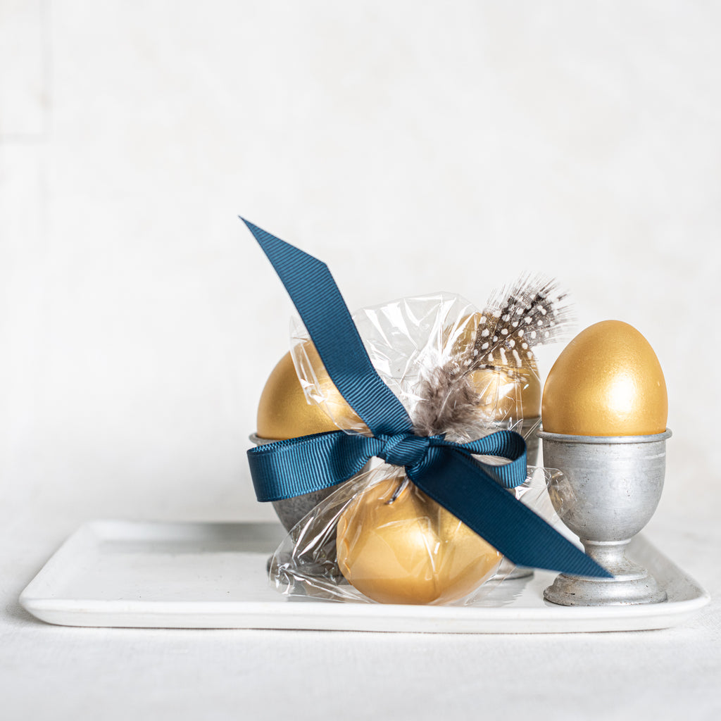Golden Eggs filled with Gianduja Chocolate - The Lost + Found Department