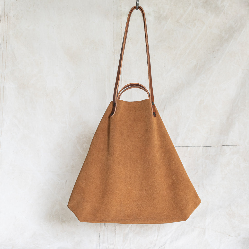 French Suede + Leather Bag - The Lost + Found Department