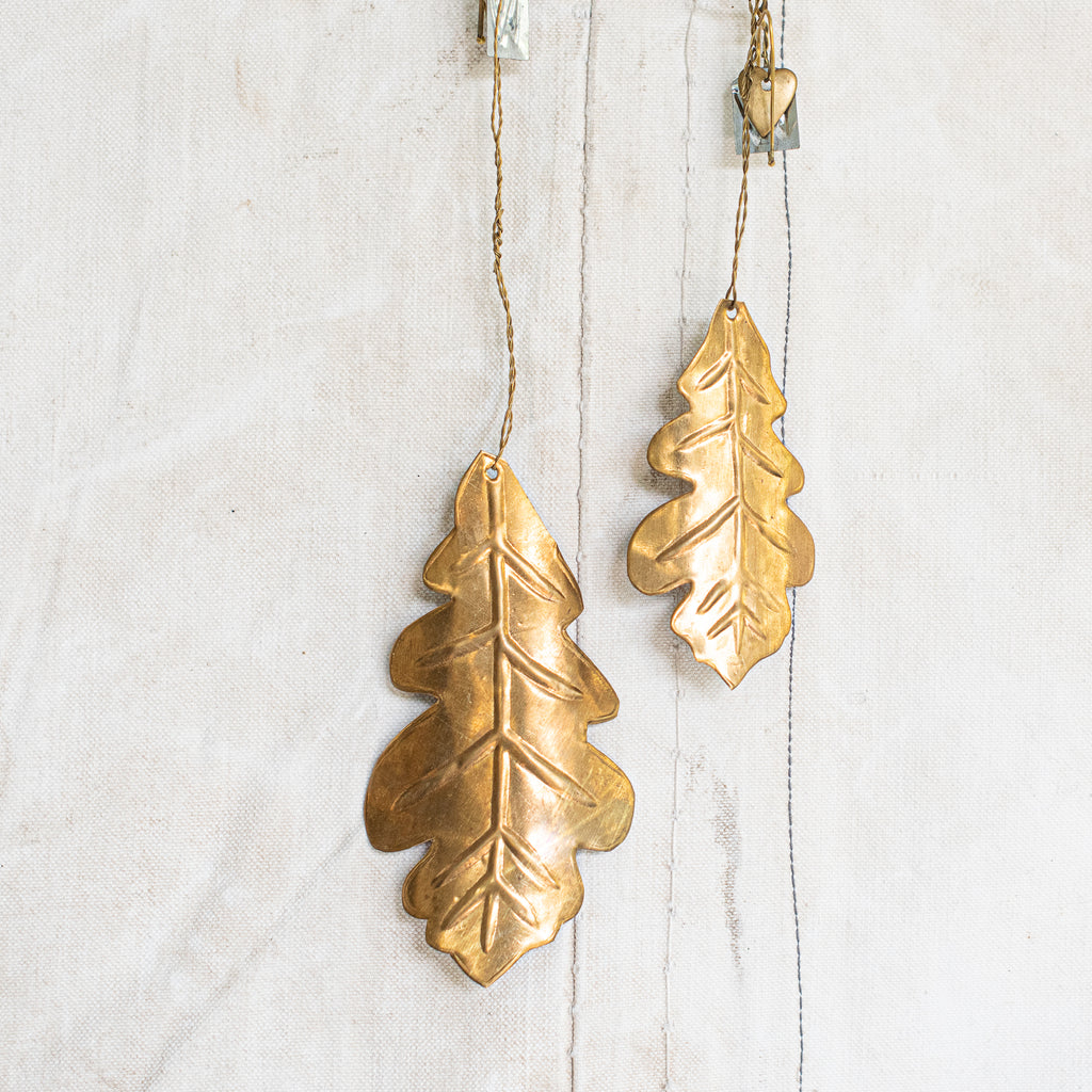 Oak Leaf -  Pressed Brass - Denmark