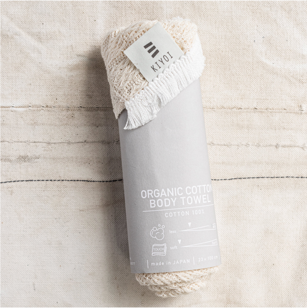 Japanese Organic Cotton Body Wash Towel - The Lost + Found Department