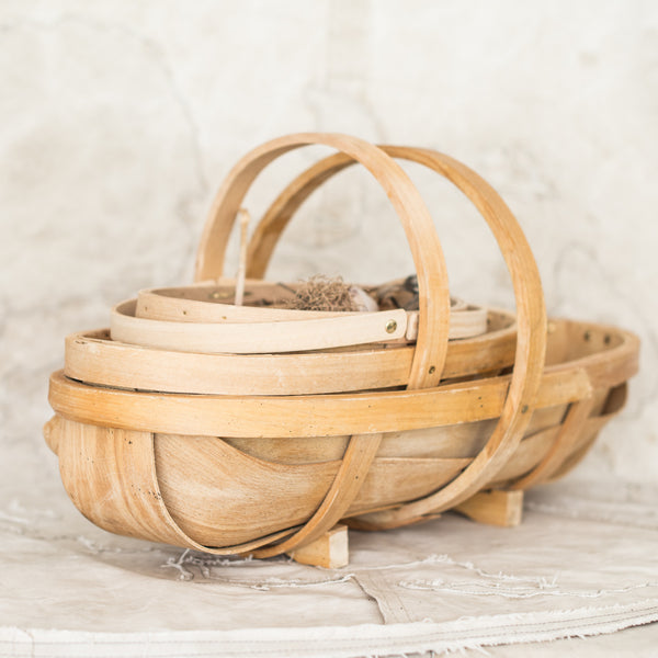 Burgon & Ball Natural Wooden Trug