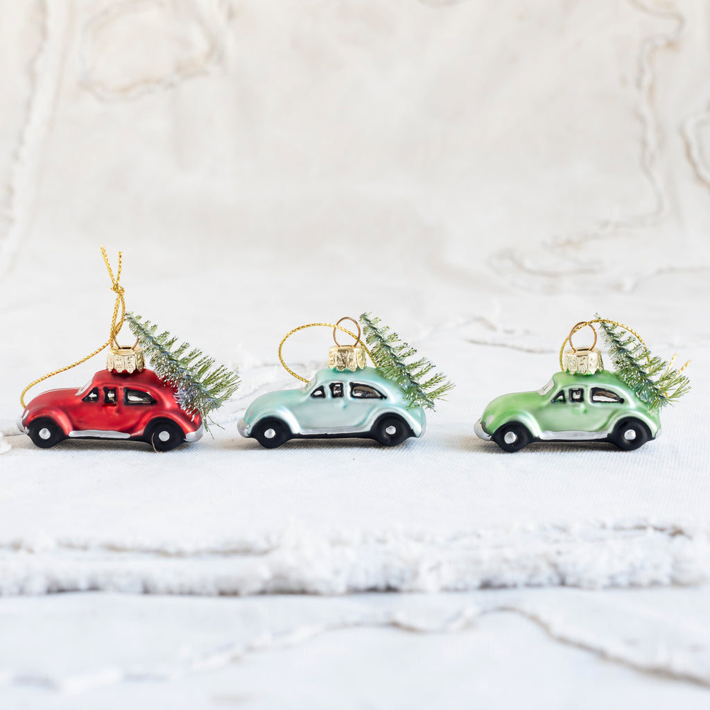 Tiny Car Tree Decoration - Assorted