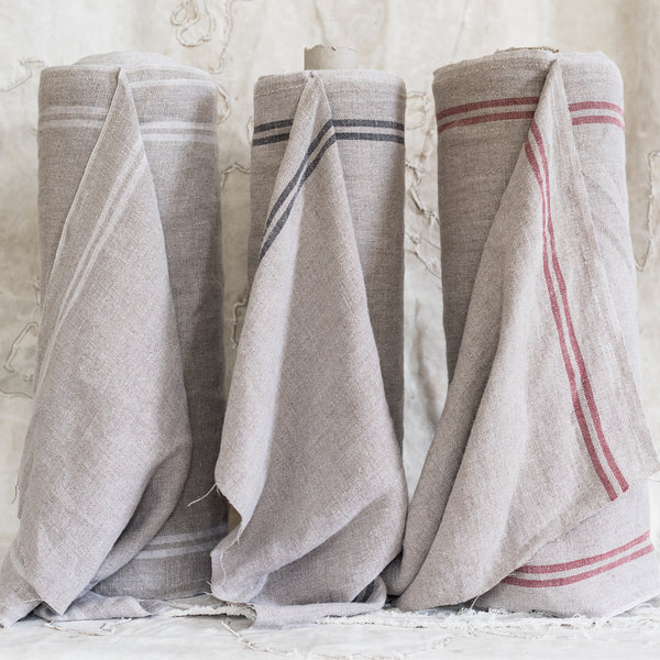 Linen Grain Sack Fabric / Mangle Cloth Fabric - The Lost + Found Department