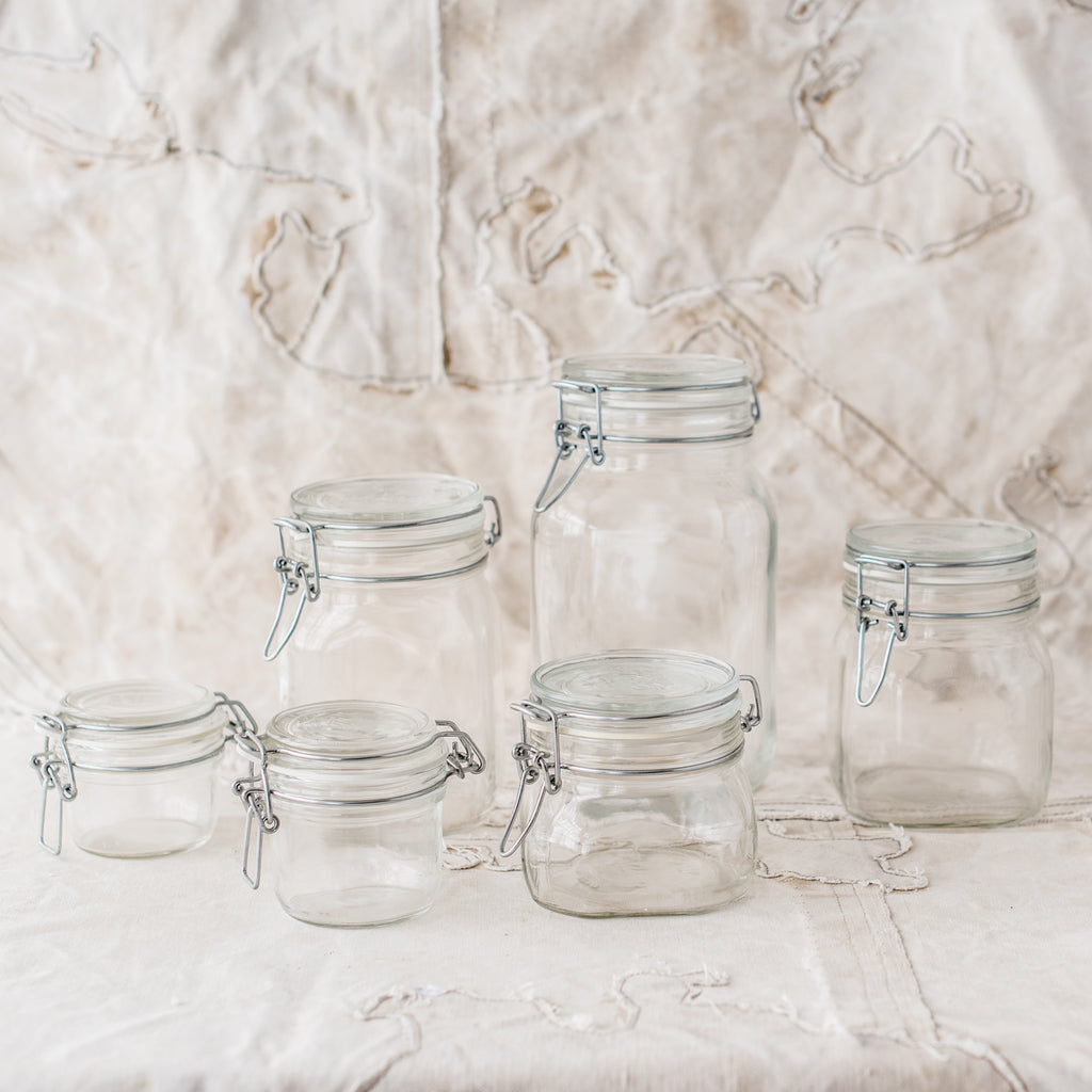 Fido Glass Storage Jar 125ml to 2 Litre