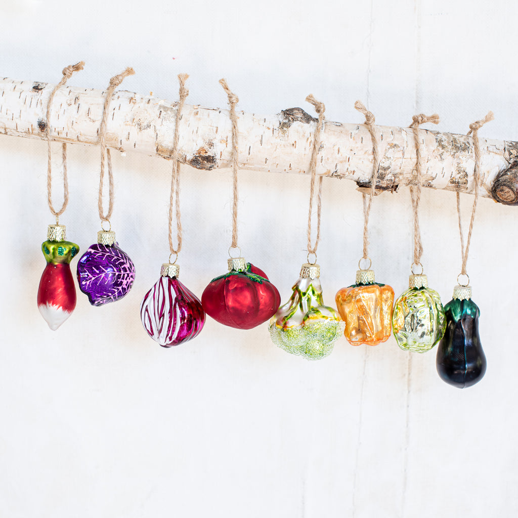 Christmas Decorations - Heirloom Vegetables $9.95
