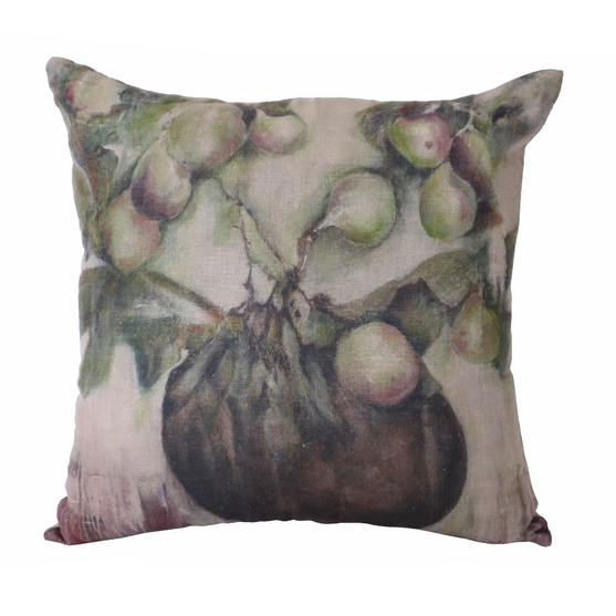 Cushion Cover - Ivy & Fig Linen with Feather & Down Inner - The Lost + Found Department