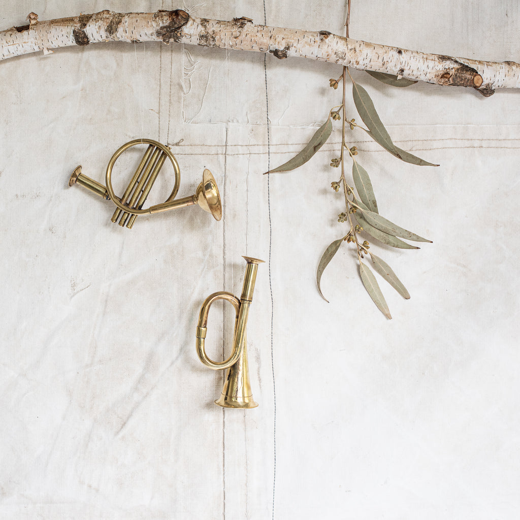 Brass French Horn and Brass Bugle - The Lost + Found Department