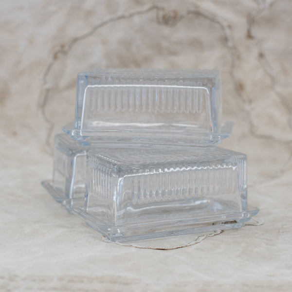 Glass Butter Dish - The Lost + Found Department
