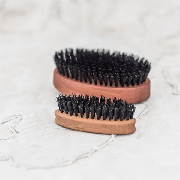 Beard Brush and Military Hair Brush