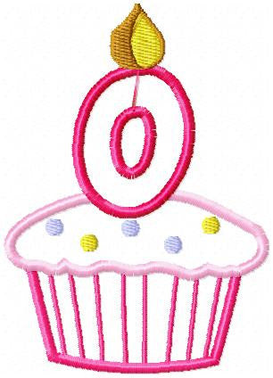 Applique Birthday Cupcakes