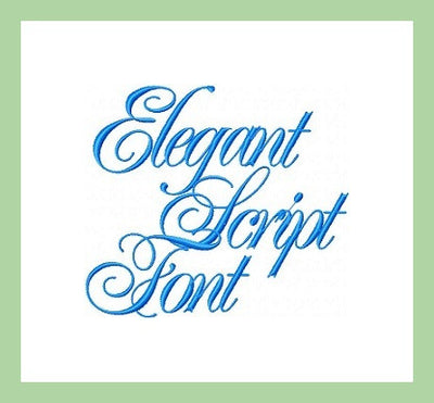 Elegant Script - Extra Large 4 and 6 Inch Sizes