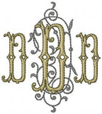 Filligree Monogram Font - comes in 3.25 inch and 5.25 inch sizes