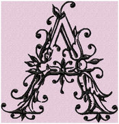 Ancient Font - Comes in 4,5,6 inch sizes - Monogram Font - Machine Embroidery Font
