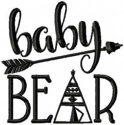 Baby Bear Machine Embroidery Design - Comes in 4x4,5x5,6x6,7x7,  sizes