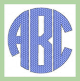 "Circle Park Font 4"" Letters Machine Embroidery Font -"