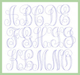 Single Stitch  Vines Font Extra Large